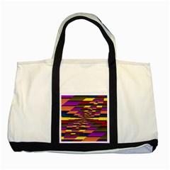 Autumn Check Two Tone Tote Bag by designworld65
