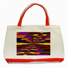 Autumn Check Classic Tote Bag (red) by designworld65