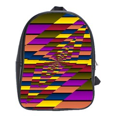 Autumn Check School Bag (large) by designworld65