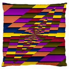 Autumn Check Large Cushion Case (two Sides) by designworld65