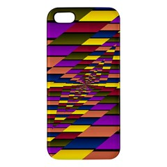 Autumn Check Apple Iphone 5 Premium Hardshell Case by designworld65