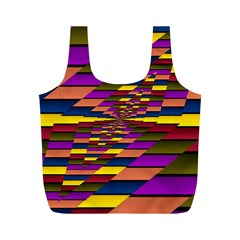 Autumn Check Full Print Recycle Bags (m)