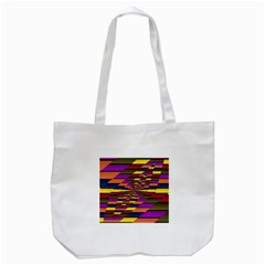 Autumn Check Tote Bag (white)