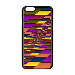 Autumn Check Apple Iphone 6/6s Black Enamel Case by designworld65