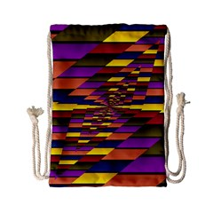 Autumn Check Drawstring Bag (small) by designworld65