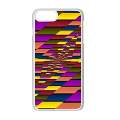 Autumn Check Apple Iphone 7 Plus White Seamless Case by designworld65