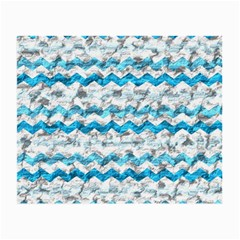 Baby Blue Chevron Grunge Small Glasses Cloth