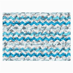 Baby Blue Chevron Grunge Large Glasses Cloth