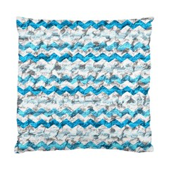 Baby Blue Chevron Grunge Standard Cushion Case (two Sides)