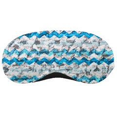Baby Blue Chevron Grunge Sleeping Masks by designworld65