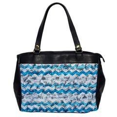 Baby Blue Chevron Grunge Office Handbags