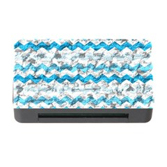 Baby Blue Chevron Grunge Memory Card Reader With Cf