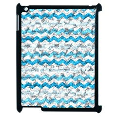 Baby Blue Chevron Grunge Apple Ipad 2 Case (black)
