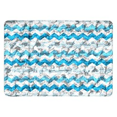 Baby Blue Chevron Grunge Samsung Galaxy Tab 8 9  P7300 Flip Case by designworld65