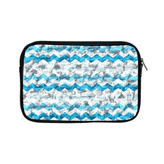 Baby Blue Chevron Grunge Apple Ipad Mini Zipper Cases