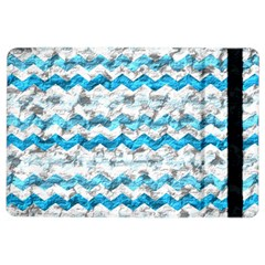 Baby Blue Chevron Grunge Ipad Air 2 Flip by designworld65