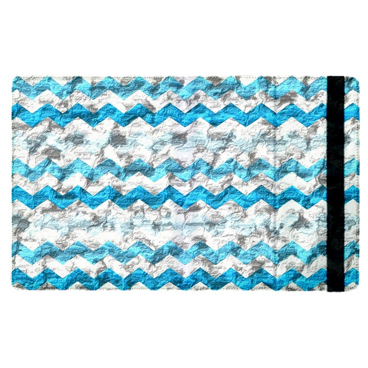 Baby Blue Chevron Grunge Apple iPad Pro 12.9   Flip Case