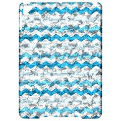 Baby Blue Chevron Grunge Apple Ipad Pro 9 7   Hardshell Case by designworld65