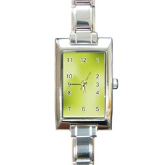 Green Soft Springtime Gradient Rectangle Italian Charm Watch