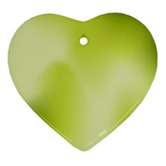 Green Soft Springtime Gradient Ornament (heart)