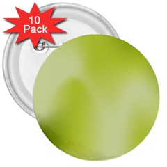 Green Soft Springtime Gradient 3  Buttons (10 Pack)