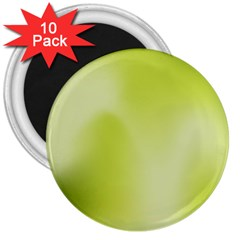 Green Soft Springtime Gradient 3  Magnets (10 Pack)