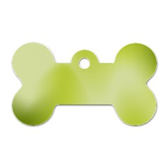 Green Soft Springtime Gradient Dog Tag Bone (two Sides) by designworld65