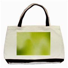 Green Soft Springtime Gradient Basic Tote Bag (two Sides) by designworld65