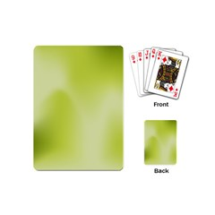 Green Soft Springtime Gradient Playing Cards (mini)  by designworld65