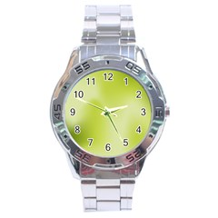 Green Soft Springtime Gradient Stainless Steel Analogue Watch by designworld65