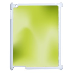 Green Soft Springtime Gradient Apple Ipad 2 Case (white)
