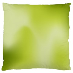 Green Soft Springtime Gradient Large Cushion Case (two Sides) by designworld65