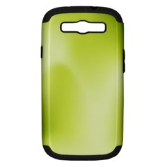Green Soft Springtime Gradient Samsung Galaxy S Iii Hardshell Case (pc+silicone) by designworld65