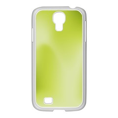 Green Soft Springtime Gradient Samsung Galaxy S4 I9500/ I9505 Case (white) by designworld65