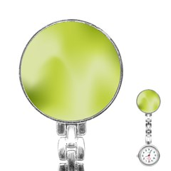 Green Soft Springtime Gradient Stainless Steel Nurses Watch