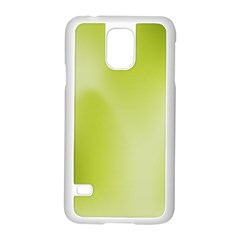 Green Soft Springtime Gradient Samsung Galaxy S5 Case (white) by designworld65