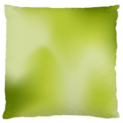 Green Soft Springtime Gradient Large Flano Cushion Case (two Sides)