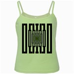 Black Stripes Endless Window Green Spaghetti Tank Front
