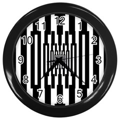 Black Stripes Endless Window Wall Clocks (black)