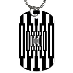 Black Stripes Endless Window Dog Tag (one Side) by designworld65