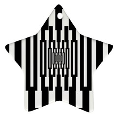 Black Stripes Endless Window Star Ornament (two Sides)