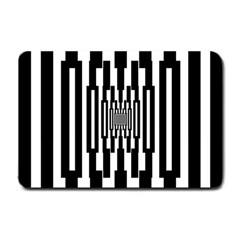 Black Stripes Endless Window Small Doormat