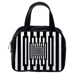 Black Stripes Endless Window Classic Handbags (one Side) by designworld65
