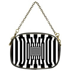 Black Stripes Endless Window Chain Purses (one Side)  by designworld65