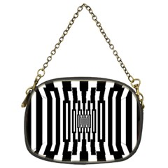 Black Stripes Endless Window Chain Purses (two Sides)