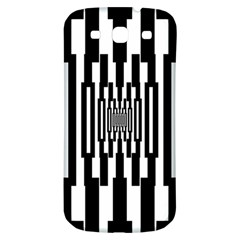 Black Stripes Endless Window Samsung Galaxy S3 S Iii Classic Hardshell Back Case by designworld65