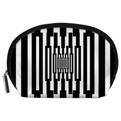 Black Stripes Endless Window Accessory Pouches (large)  by designworld65