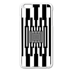 Black Stripes Endless Window Apple Iphone 6 Plus/6s Plus Enamel White Case by designworld65