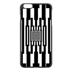 Black Stripes Endless Window Apple Iphone 6 Plus/6s Plus Black Enamel Case by designworld65