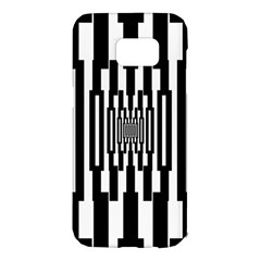 Black Stripes Endless Window Samsung Galaxy S7 Edge Hardshell Case